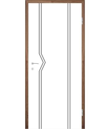 Bijelo obojena unutrašnja vrata s utorima COLORline - MODENA R13L