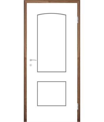 Bijelo obojena unutrašnja vrata s utorima COLORline - MODENA R14L