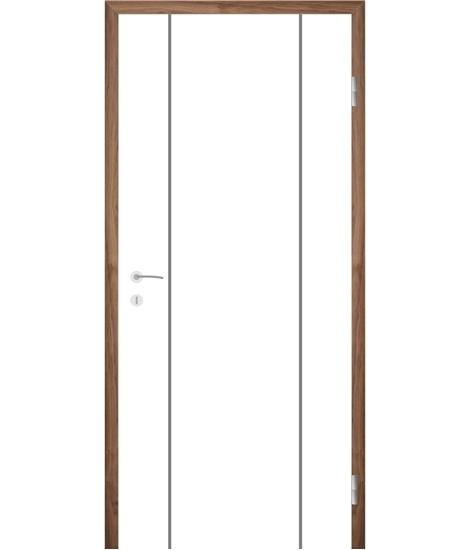 Bijelo obojena unutrašnja vrata s utorima COLORline - MODENA R15L