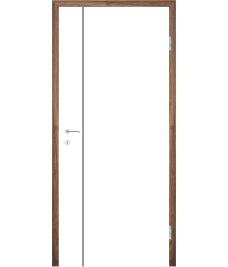 Bijelo obojena unutrašnja vrata s utorima COLORline - MODENA R16L