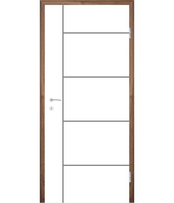 Bijelo obojena unutrašnja vrata s utorima COLORline - MODENA R17L