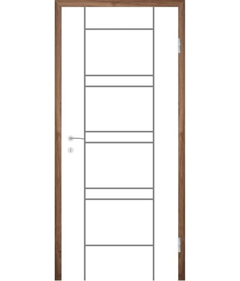 Bijelo obojena unutrašnja vrata s utorima COLORline - MODENA R18L