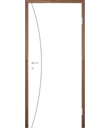 Bijelo obojena unutrašnja vrata s utorima COLORline - MODENA R21L