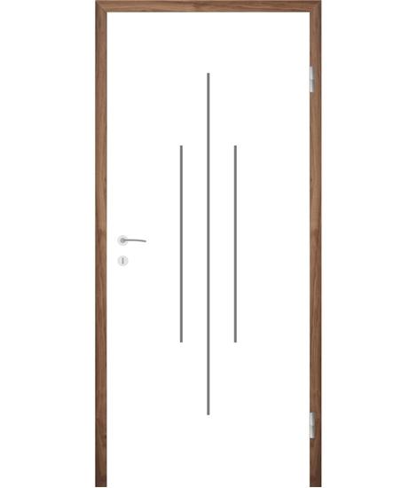 Bijelo obojena unutrašnja vrata s utorima COLORline - MODENA R22L
