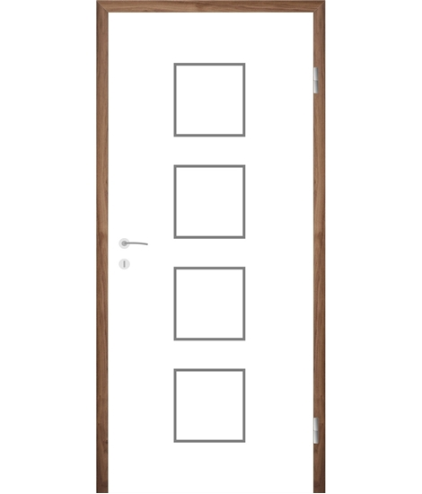 Bijelo obojena unutrašnja vrata s utorima COLORline - MODENA R23L