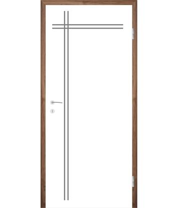 Bijelo obojena unutrašnja vrata s utorima COLORline - MODENA R24L