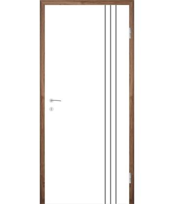 Picture of Bijelo obojena unutrašnja vrata s utorima COLORline - MODENA R36L