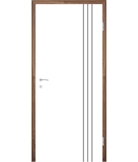 Bijelo obojena unutrašnja vrata s utorima COLORline - MODENA R36L