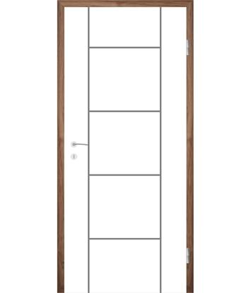Bijelo obojena unutrašnja vrata s utorima COLORline - MODENA R5L