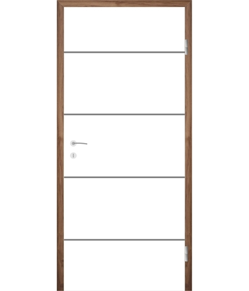 Bijelo obojena unutrašnja vrata s utorima COLORline - MODENA R6L