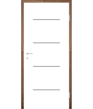 Picture of Bijelo obojena unutrašnja vrata s utorima COLORline - MODENA R7L