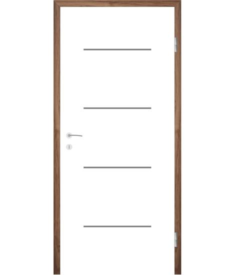 Bijelo obojena unutrašnja vrata s utorima COLORline - MODENA R7L