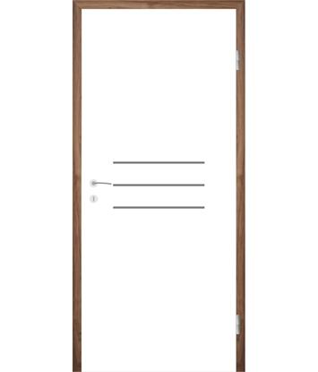 Picture of Bijelo obojena unutrašnja vrata s utorima COLORline - MODENA R8L