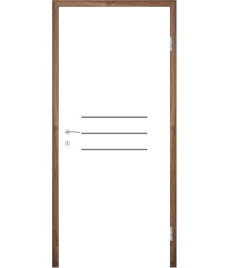 Bijelo obojena unutrašnja vrata s utorima COLORline - MODENA R8L