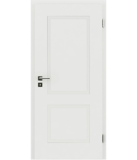 bijelo obojena unutrašnja vrata s reljefima KAISERline - R38L bijelo obojan