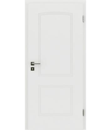 Picture of bijelo obojena unutrašnja vrata s reljefima KAISERline - R40L s lukom, bijelo obojano