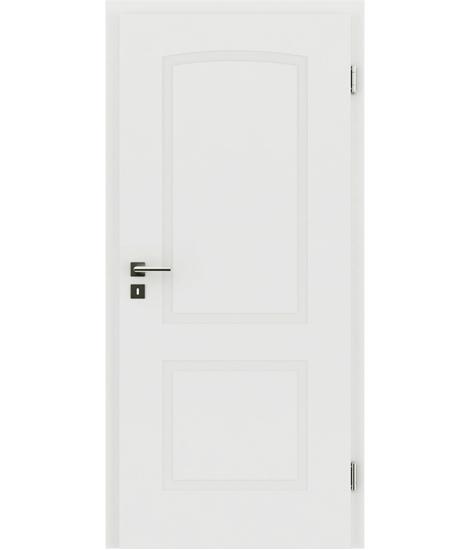 bijelo obojena unutrašnja vrata s reljefima KAISERline - R40L s lukom, bijelo obojano