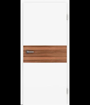 Picture of Bijelo obojena unutrašnja vrata s furniranim umetcima i utorima BELLAline - I39R72L bijelo obojeno, umetak od indijske jabuke