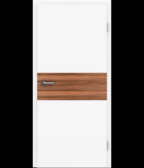 Bijelo obojena unutrašnja vrata s furniranim umetcima i utorima BELLAline - I39R72L bijelo obojeno, umetak od indijske jabuke
