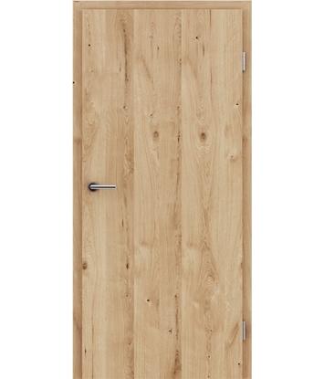 Furnirana unutrašnja vrata s uspravnom strukturom GREENline - hrast grča pukotina brušeni natur lakirani