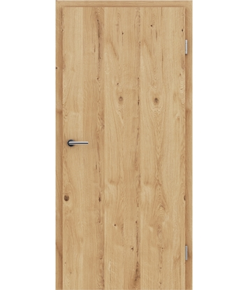 Picture of Furnirana unutrašnja vrata s uspravnom strukturom GREENline - hrast grča pukotina brušeni uljeni
