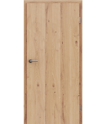 Furnirana unutrašnja vrata s uspravnom strukturom GREENline - hrast grča pukotina mat luženi lakirani
