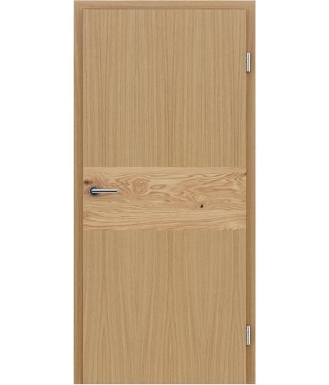 Furnirana unutrašnja vrata s intarzijskim umetcima HIGHline - I39 hrast, umetak hrast grča
