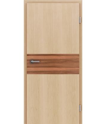 Picture of Furnirana unutrašnja vrata s intarzijskim umetcima HIGHline - I39 javor, umetak indijska jabuka