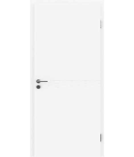 Bijelo obojena unutrašnja vrata s utorima COLORline - TWIST R75L