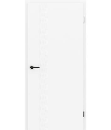 Picture of Bijelo obojena unutrašnja vrata s utorima COLORline - TWIST R76L