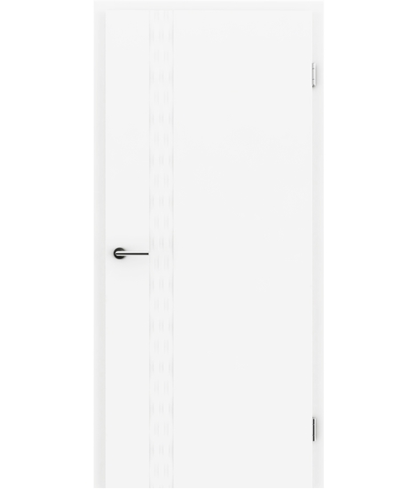 Bijelo obojena unutrašnja vrata s utorima COLORline - TWIST R76L