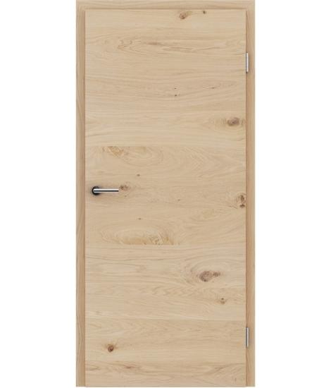 Furnirana unutrašnja vrata s uspravnom i/ili poprečnom strukturom VIVACEline - F4 hrast grča bijeli uljeni
