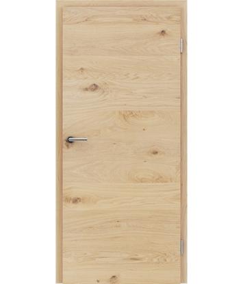Picture of Furnirana unutrašnja vrata s uspravnom i/ili poprečnom strukturom VIVACEline - F4 hrast grča brušeni bijeli uljeni