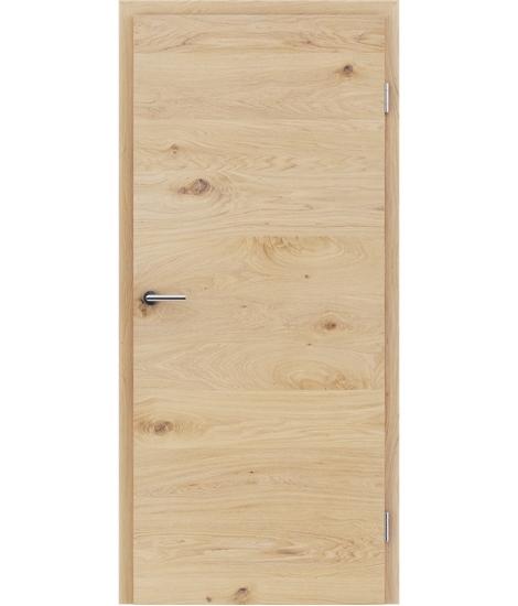 Furnirana unutrašnja vrata s uspravnom i/ili poprečnom strukturom VIVACEline - F4 hrast grča brušeni bijeli uljeni