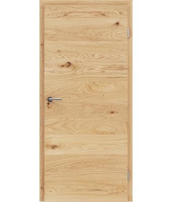 Picture of Furnirana unutrašnja vrata s uspravnom i/ili poprečnom strukturom VIVACEline - F4 hrast grča brušeni natur lakirani