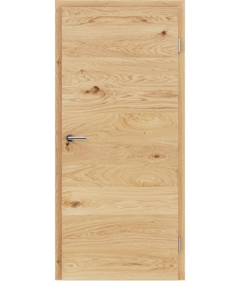 Furnirana unutrašnja vrata s uspravnom i/ili poprečnom strukturom VIVACEline - F4 hrast grča brušeni natur lakirani