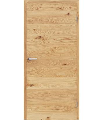 Picture of Furnirana unutrašnja vrata s uspravnom i/ili poprečnom strukturom VIVACEline - F4 hrast grča brušeni uljeni