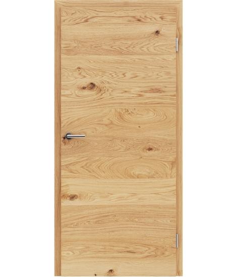 Furnirana unutrašnja vrata s uspravnom i/ili poprečnom strukturom VIVACEline - F4 hrast grča brušeni uljeni