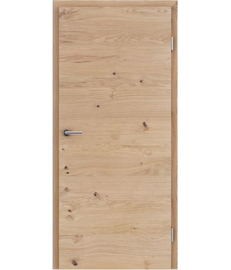 Furnirana unutrašnja vrata s uspravnom i/ili poprečnom strukturom VIVACEline - F4 hrast grča pukotina brušeni mat luženi lakirani