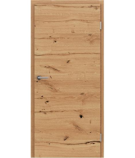 Furnirana unutrašnja vrata s uspravnom i/ili poprečnom strukturom VIVACEline - F4 hrast grča pukotina natur lakirani