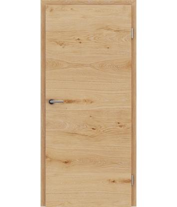 Furnirana unutrašnja vrata s uspravnom i/ili poprečnom strukturom VIVACEline - F4 hrast grča s bijelim porama