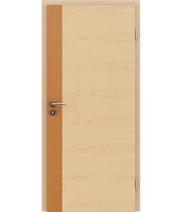 Furnirana unutrašnja vrata s uspravnom i/ili poprečnom strukturom VIVACEline - F5 joha, umetak javor
