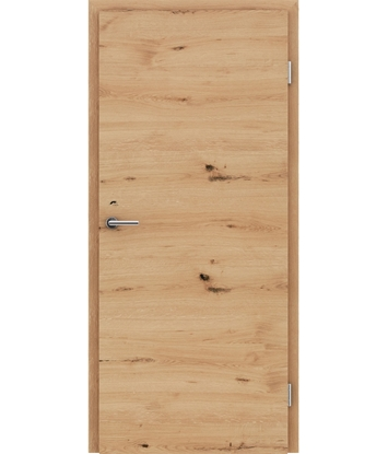 Picture of Furnirana unutrašnja vrata s uspravnom i/ili poprečnom strukturom VIVACEline - F4 hrast grča pukotina brušeni natur lakirani
