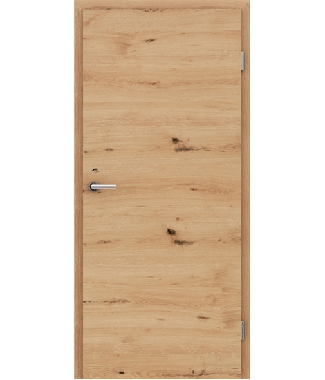 Furnirana unutrašnja vrata s uspravnom i/ili poprečnom strukturom VIVACEline - F4 hrast grča pukotina brušeni natur lakirani