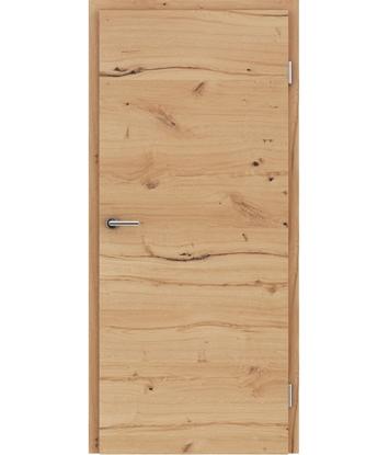 Furnirana unutrašnja vrata s uspravnom i/ili poprečnom strukturom VIVACEline - F4 hrast grča pukotina brušeni uljeni