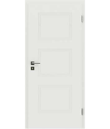 bijelo obojena unutrašnja vrata s reljefima KAISERline - R49L, bijelo obojano