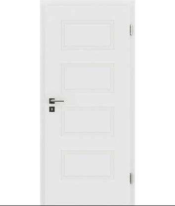 Picture of bijelo obojena unutrašnja vrata s reljefima KAISERline - R71L, bijelo obojano
