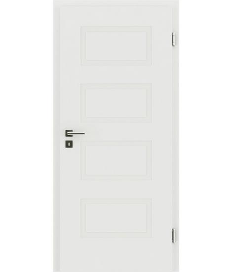 bijelo obojena unutrašnja vrata s reljefima KAISERline - R71L, bijelo obojano